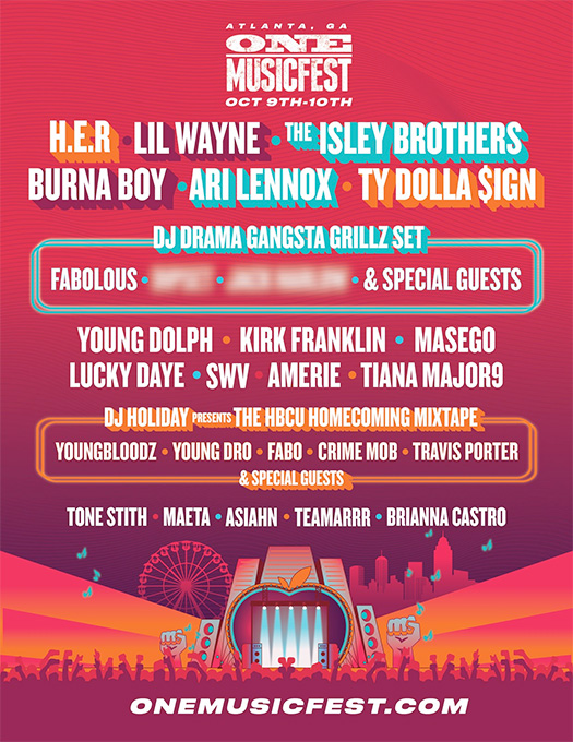 Lil Wayne To Headline The ONE Musicfest In Atlanta This October