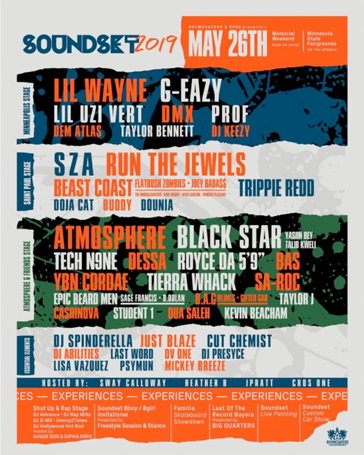 Lil Wayne To Headline Soundset 2019 Over Memorial Day Weekend