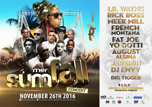 Lil Wayne To Headline The 2016 SummerFall Concert In Curacao