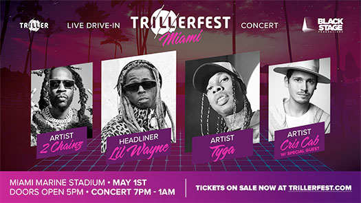 Lil Wayne To Headline Triller Fest Drive-In Concert With Tyga, 2 Chainz & More