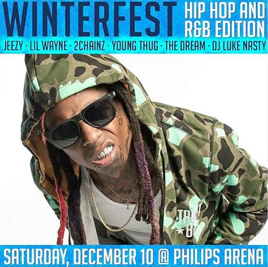 Lil Wayne To Headline V-103 2016 Winterfest Concert In Atlanta