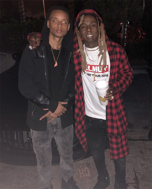 lil wayne helps birdman�s son brian celebrate his 21st