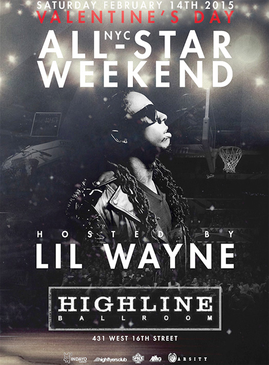 Lil Wayne Is Hosting A Party At The Highline Ballroom In New York City On Valentines Day