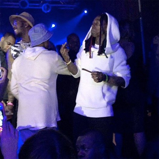 Lil Wayne Attends An NBA All Star Game After-Party, Girl Gets Topless