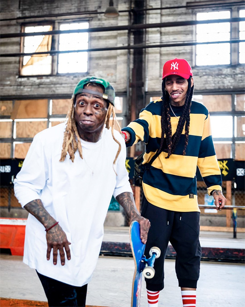 Lil Wayne Hits Up A Milwaukee Skate Park With Marley G & Andre Colbert