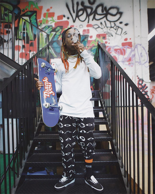 Lil Wayne Hits Up His Private Miami Skate Park With Chaz Ortiz & Marley G