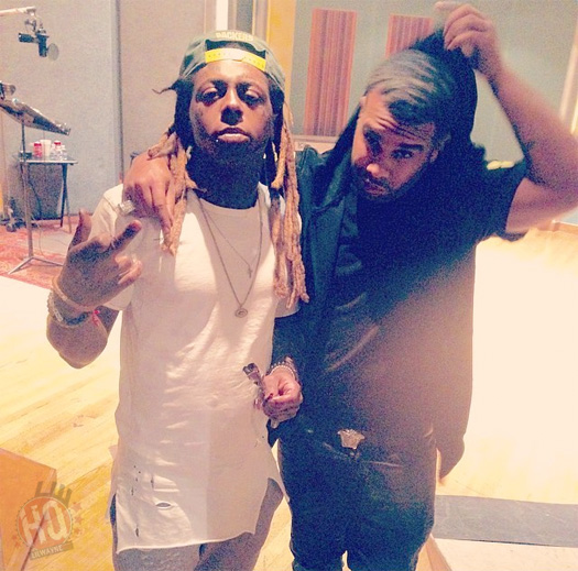 Lil Wayne Hits Up The Studio With Nicki Minaj, JR Writer & Fred Money