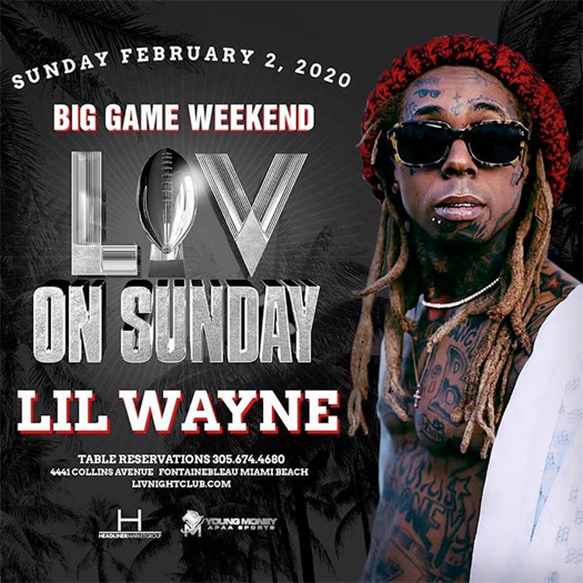 Lil Wayne To Host A Big Game Weekend Party In Miami