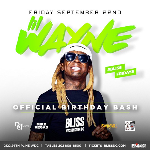 Lil Wayne To Host His Birthday Bash At Bliss Nightclub In Washington DC