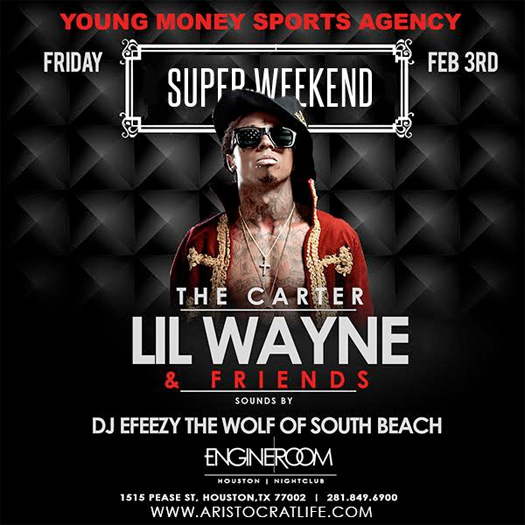 Lil Wayne To Host An Event At Engine Room Nightclub In Houston For Super Bowl Weekend