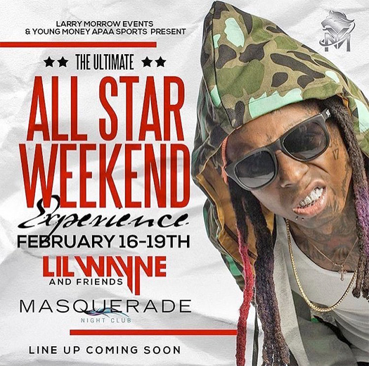 Lil Wayne To Host An Event At Masquerade Nightclub In New Orleans During 2017 NBA All Star Weekend