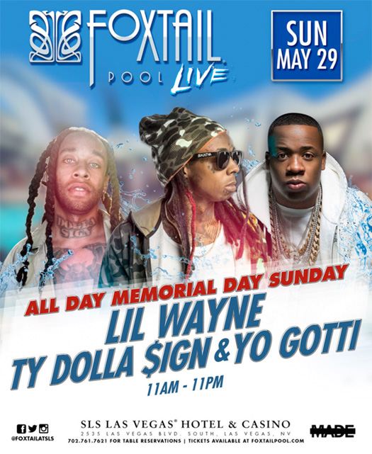Lil Wayne To Host An Event With Ty Dolla Sign & Yo Gotti On Memorial Day Sunday In Las Vegas