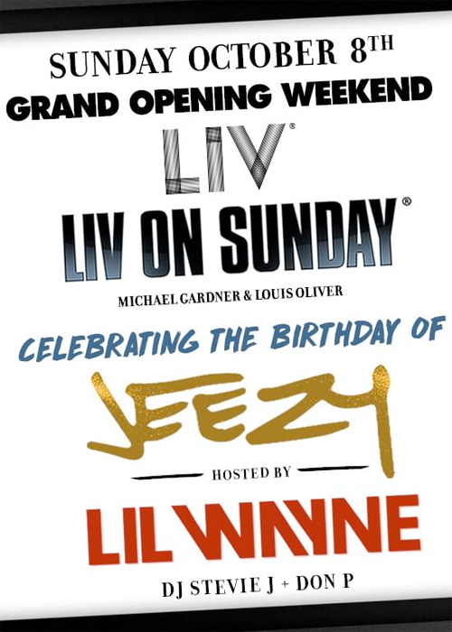 Lil Wayne To Host The Grand Opening Weekend Of LIV Nightclub In Miami & Jeezy Birthday Bash
