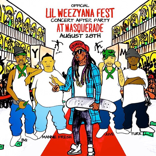 Lil Wayne To Host A Lil Weezyana Fest After Party At Masquerade In New Orleans With Mannie Fresh & Hot Boys