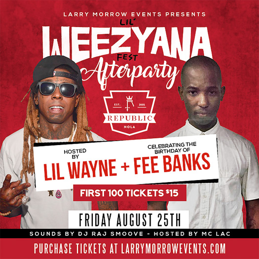 Lil Wayne To Host Lil Weezyana Fest After Party At Republic New Orleans