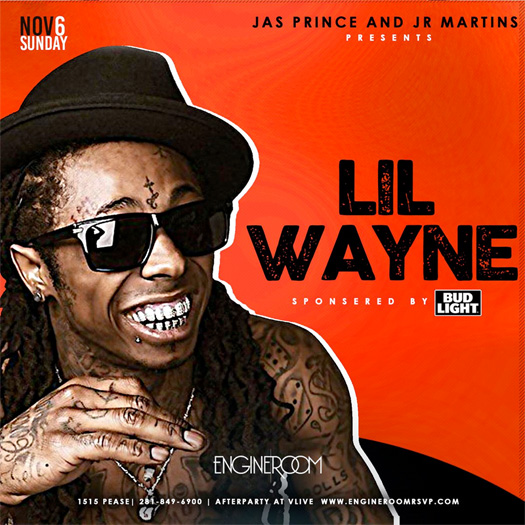 Lil Wayne To Host A Party At Engine Room In Houston After 2016 Beat Bash Concert