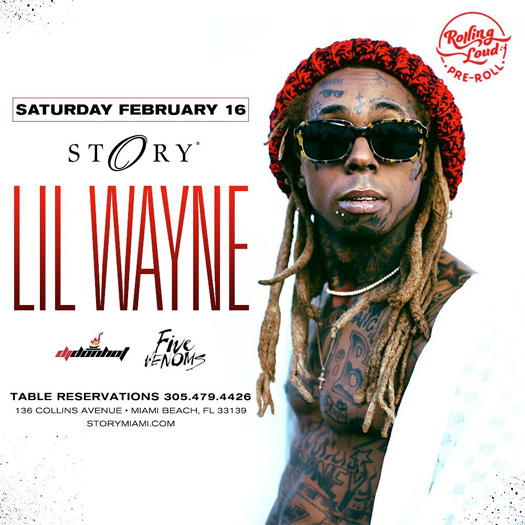 Lil Wayne To Host A Pre Roll Party At STORY Nightclub In Miami
