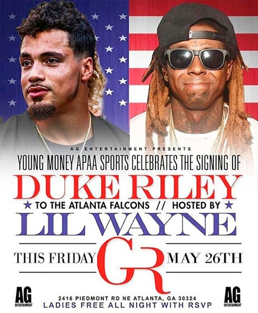 Lil Wayne To Host A Signing Party For Duke Riley At Gold Room Nightclub In Atlanta
