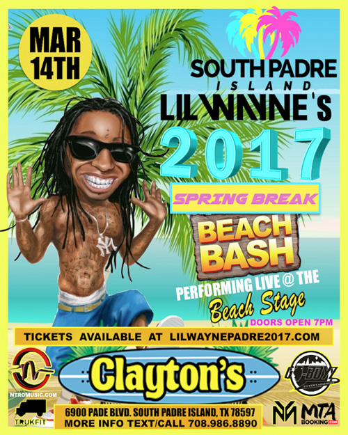 Lil Wayne Will Be Hosting A 2017 Spring Break Beach Bash In South Padre Island Texas