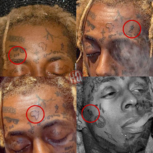 Lil Wayne Hosts A Halloween Party In Miami, Debuts New Face Tattoos