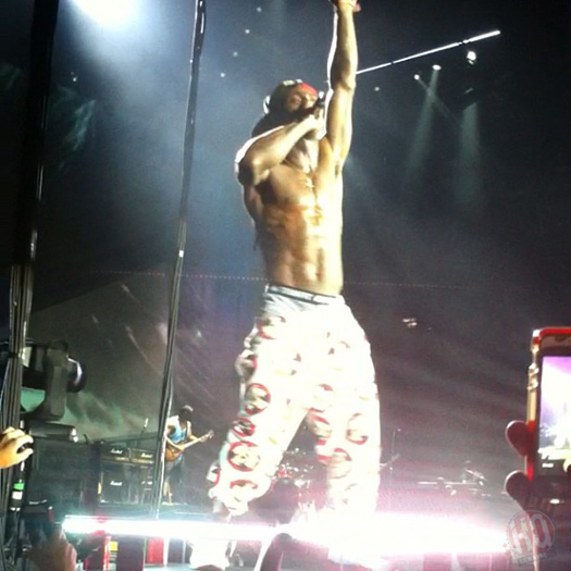 Lil Wayne Performs Live In Houston On Americas Most Wanted Tour