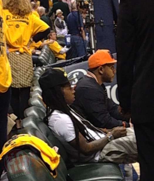 Lil Wayne Games For Ps3 : Lil wayne attends indiana pacers vs miami heat game in