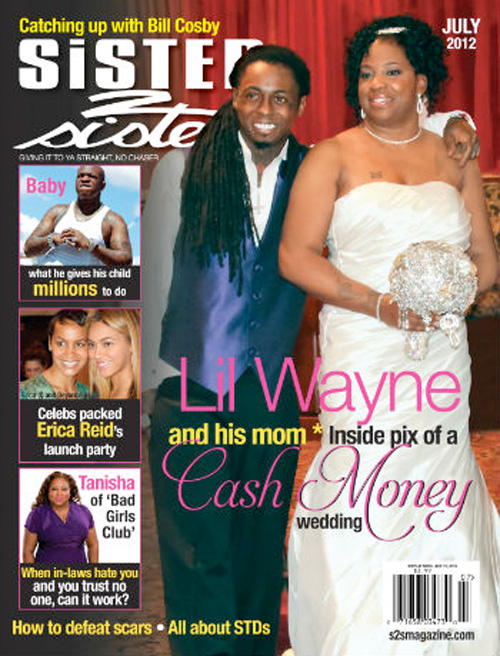 Lil Wayne & His Mother Jacida Carter Cover Sister 2 Sister Magazine