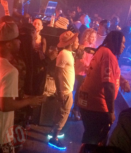 Lil Wayne Jams Out His Hot Boy Remix At Fluxx In San Diego, Rocks Wize & Ope Light LED Shoes