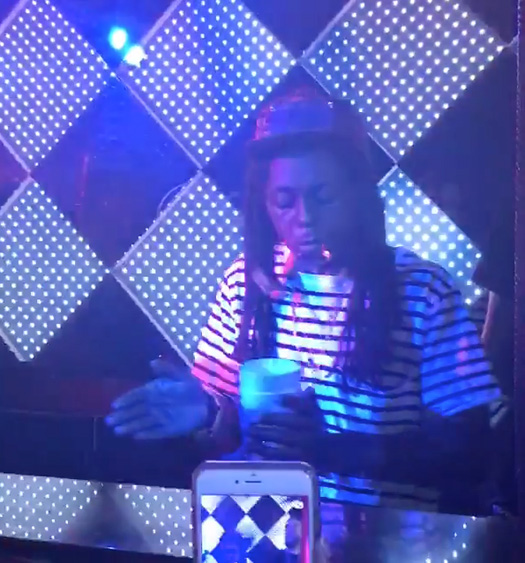 Lil Wayne Jams Out To March Madness, White Iverson & Watch Out At Dream Nightclub In Miami