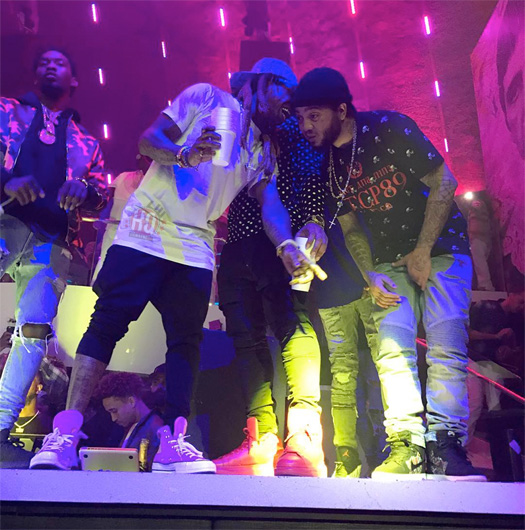 Lil Wayne Jams Out To Migos Performing Bad And Boujee Live At LIV Nightclub
