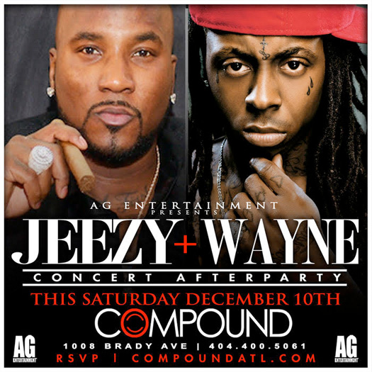 Lil Wayne & Jeezy To Host Winterfest After Party At Compound Nightclub In Atlanta