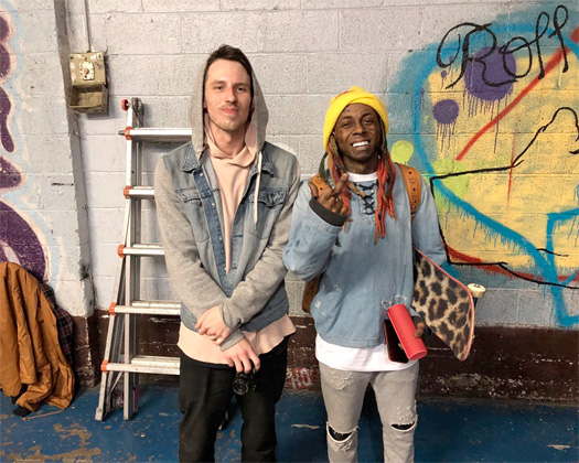 Jordan Garland Hangs Out & Skates With Lil Wayne In Detroit
