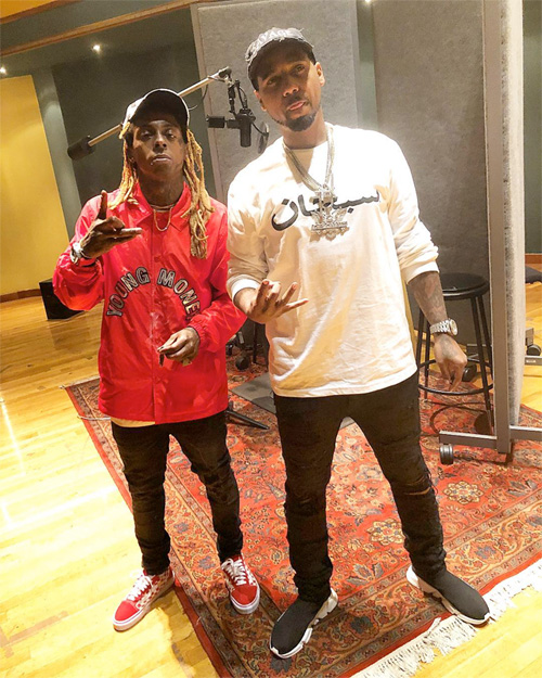 Lil Wayne & Juelz Santana Hit Up Circle House Studios To Work On I Cant Feel My Face