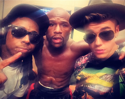 Lil Wayne Performs Believe Me As Him & Justin Bieber Walk Floyd Mayweather To The Ring