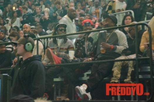 Lil Wayne Spotted At Kanye West The Yeezus Tour Sitting Next To 2 Chainz