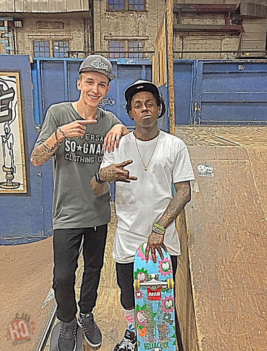 Lil Wayne Has A Late Night Skating Session At Milwaukee Four Seasons Skatepark