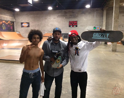 Lil Wayne Has A Late Night Skating Session With YoYo & Adam Z In Nashville Tennessee