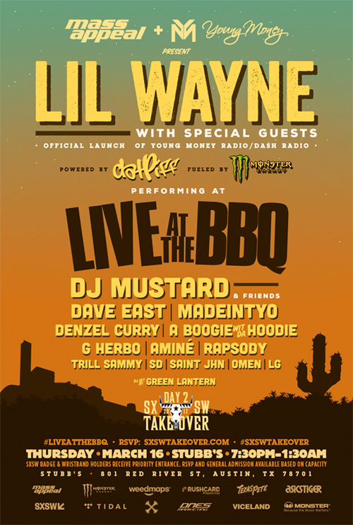 Lil Wayne To Launch His Young Money Radio Show During MASS APPEAL 2017 Live At The BBQ At SXSW