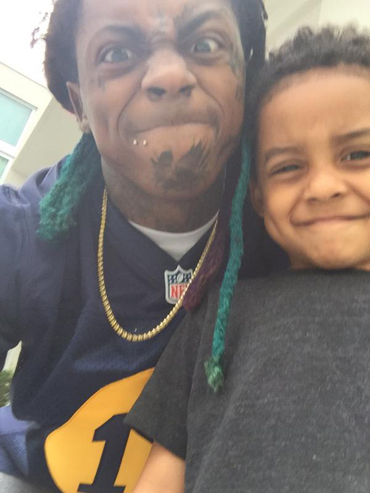 Photo of Lil' Wayne & his  Son  Cameron Carter