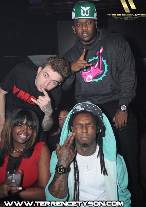 More Pictures Of Lil Wayne Celebrating DJ Khaleds Birthday At LIV Nightclub