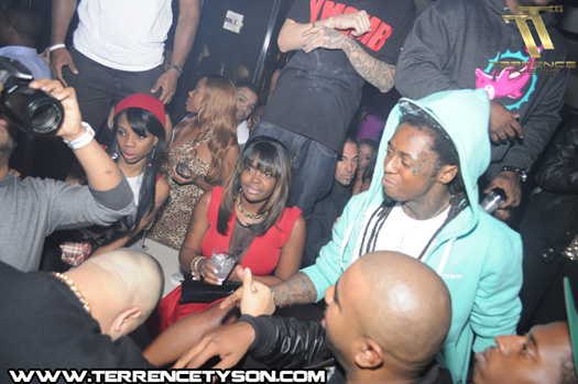 More Pictures Of Lil Wayne Celebrating DJ Khaleds Birthday At LIV Nightclub