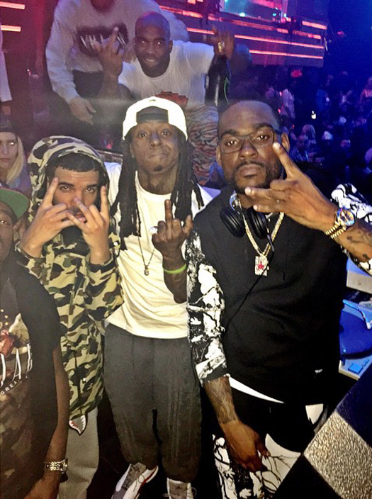 Lil Wayne Hits Up LIV Nightclub With Drake, 2 Chainz, Ray J & The Game