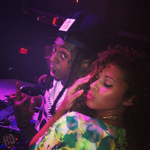 Lil Wayne Parties At LIV Nightclub With Floyd Mayweather & Christina Milian