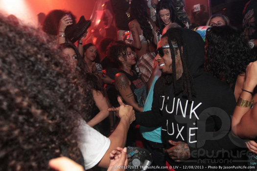 Lil Wayne Parties At LIV Nightclub In Miami With Busta Rhymes, Euro & DJ Scoob Doo