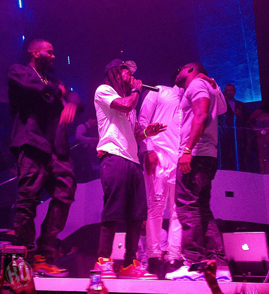 Lil Wayne Celebrates The Game Latest Album At LIV Nightclub With Kirko Bangz, Flo Rida & Busta Rhymes