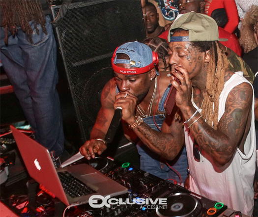 Lil Wayne Parties At LIV Nightclub In Miami With Jeezy, 2 Chainz & More