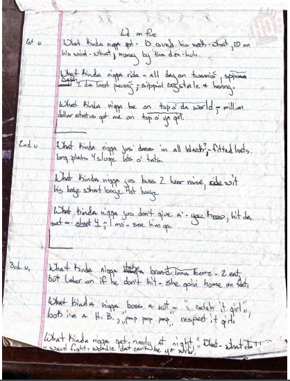 Lil Wayne Lost Handwritten Lyrics From 1999 On Sale For $250,000