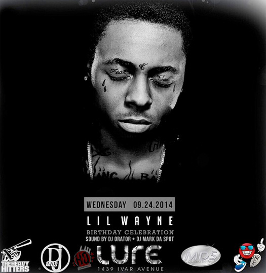 f01a83445 Lil Wayne Will Begin His Early Birthday Celebrations At Lure Nightclub In  L.A.