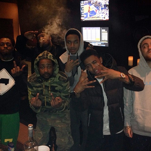 Lil Wayne, Mac Miller, Birdman, Euro & Lil Twist Hit Up The Studio