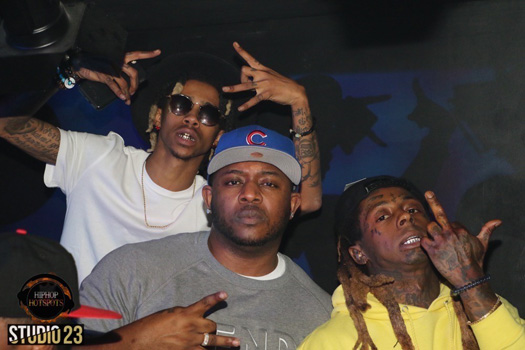 Lil Wayne & Mack Maine Join Lil Twist In Celebrating His Birthday At Studio 23 In Miami